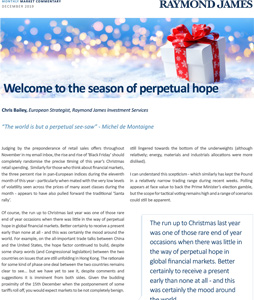 Welcome to the season of perpetual hope